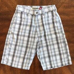 Billabong White Plaid Bermuda Shorts 30